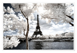 Premiumposter  Infrared - Paris Eiffel Tower - Philippe HUGONNARD