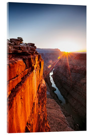 Akrylglastavla  Beautiful sunrise on Grand Canyon and river Colorado, USA - Matteo Colombo