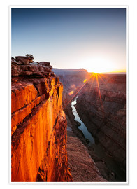 Premiumposter  Beautiful sunrise on Grand Canyon and river Colorado, USA - Matteo Colombo