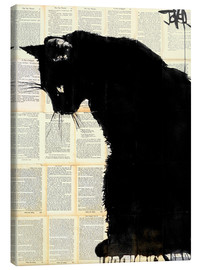Canvastavla  Black cat - Loui Jover