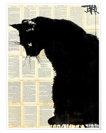 Premiumposter Black cat