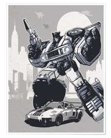 Premium poster alternative jazz retro transformers art print