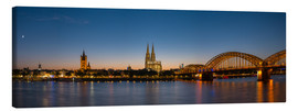 Canvastavla  Cologne at sunset panorama - rclassen