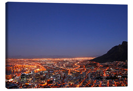 Canvastavla  Cape Town at night, South Africa - wiw