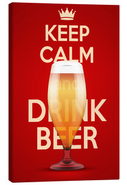 Canvastavla  Keep Calm And Drink Beer