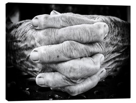 Canvastavla  Hands of an old man