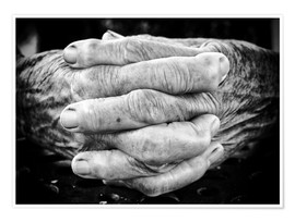 Premiumposter  Hands of an old man