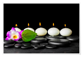 Poster spa still life with candles