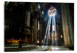 Akrylglastavla  Beams of Light inside Milan Cathedral