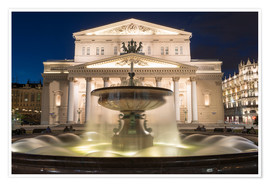 Premiumposter  Fountain and Bolshoi Theatre