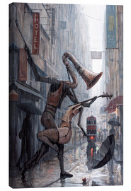 Canvastavla  Life is a dance in the rain - Adrian Borda