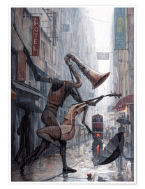 Premiumposter  Life is a dance in the rain - Adrian Borda