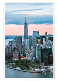 Premiumposter  Aerial view of World Trade Center and lower Manhattan, New York, USA - Matteo Colombo