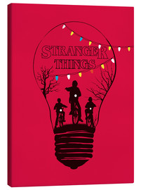 Canvastavla  Stranger Things, röd - Golden Planet Prints