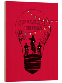Trätavla  Stranger Things - Golden Planet Prints