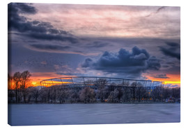 Canvastavla  Clouds above the HDI Arena - Holger Bücker (BuPix)