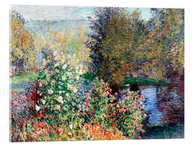 Akrylglastavla  Corner of the Garden at Montgeron - Claude Monet