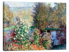 Canvastavla  Corner of the Garden at Montgeron - Claude Monet