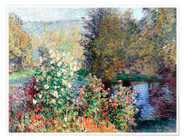 Premiumposter  Corner of the Garden at Montgeron - Claude Monet