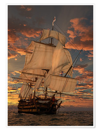 Premiumposter  Skeppet HMS Victory - Peter Weishaupt