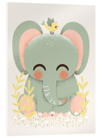 Akrylglastavla  Animal friends - The elephant - Kanzi Lue