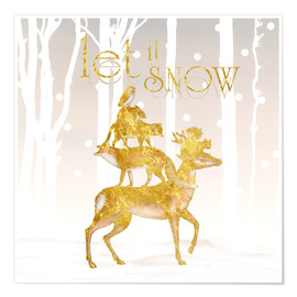 Premiumposter  Let It Snow - Mandy Reinmuth