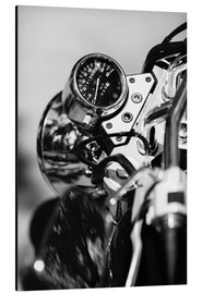 Aluminiumtavla  Speedometer of a motorcycle