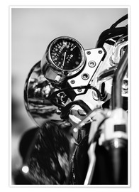 Premiumposter Speedometer of a motorcycle
