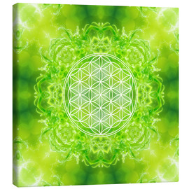 Canvastavla  Flower of Life - Healing Power of Nature - Dolphins DreamDesign