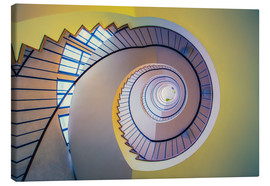 Canvastavla  Staircase in crayon - MUXPIX