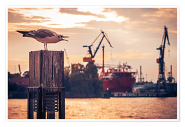Premiumposter Hamburg Harbour
