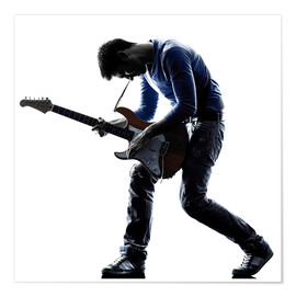 Premiumposter  Musician with an electric guitar