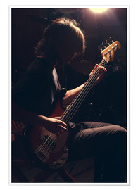 Premiumposter  Musician with electric guitar