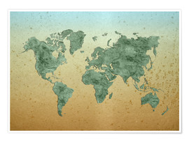 Premiumposter Vintage World Map