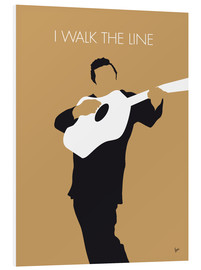PVC-tavla  Johnny Cash, I walk the line - chungkong