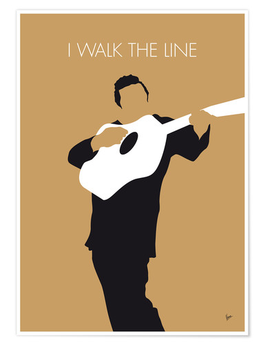 Premiumposter Johnny Cash, I walk the line