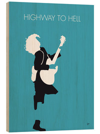 Trätavla  Highway to hell - ACDC - chungkong