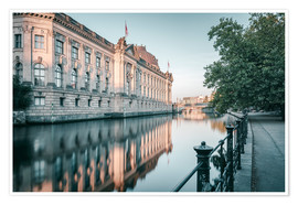 Premiumposter Bode Museum Reflection in the River Spree