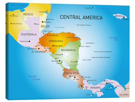 Canvastavla  Central America - Map