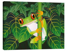 Canvastavla  Hold on tight little frog! - Kidz Collection