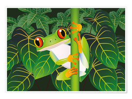 Premiumposter  Hold on tight little frog! - Kidz Collection
