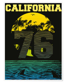 Premiumposter  California beach
