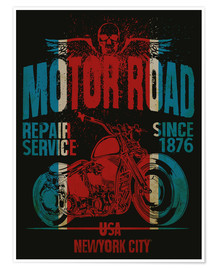 Premiumposter motor road