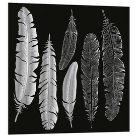 PVC-tavla  Feathers in silver