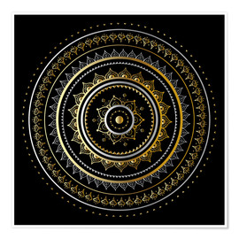 Premiumposter  Mandala on black