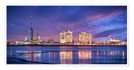 Premiumposter  Sunrise in Bremerhaven - Tanja Arnold Photography