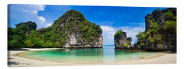 Canvastavla  thailand hong Iceland beach Panorama - Vincent Xeridat