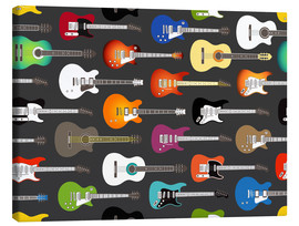 Canvastavla  Guitar pattern - Kidz Collection