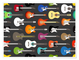 Premiumposter  Guitar pattern - Kidz Collection