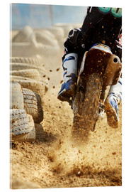 Akrylglastavla  Motocross bike racing